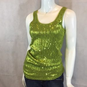 Charlotte Russe party sequins tank top size S